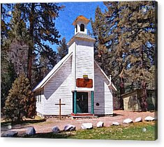 Chapel On The Mountain Acrylic Print by Glenn McCarthy Art and Photography