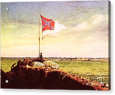 Chapman Fort Sumter Flag Acrylic Print by Granger