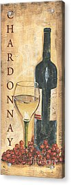 Chardonnay Wine And Grapes Acrylic Print by Debbie DeWitt