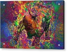 Charging Bull Acrylic Print by Jack Zulli