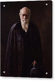 Charles Darwin - By John Collier Acrylic Print by War Is Hell Store