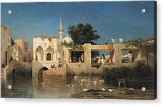 Charles Emile De Tournemine Acrylic Print by Cafe in Adalia