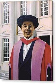 Charles Harpum Receiving Doctorate Of Law Acrylic Print by Richard Harpum