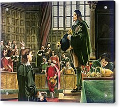 Charles I In The House Of Commons Acrylic Print by English School