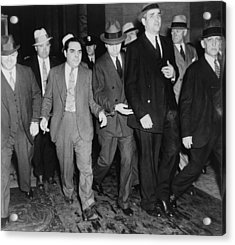 Charles Lucky Luciano In Center Acrylic Print by Everett