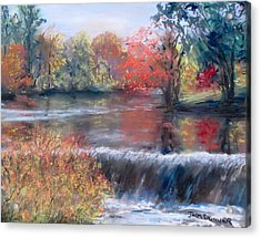 Charles River, Natick Acrylic Print by Jack Skinner