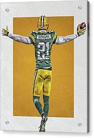 Charles Woodson Green Bay Packers Art 2 Acrylic Print by Joe Hamilton