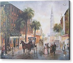 Charleston Somewhere In Time Acrylic Print by Charles Roy Smith