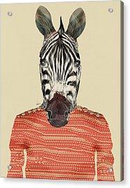Charlie Zebra Acrylic Print by Bri B