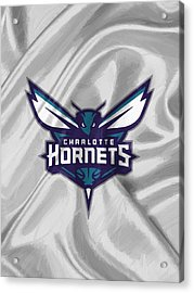 Charlotte Hornets Acrylic Print by Afterdarkness