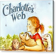 Charlottes Web Acrylic Print by Elizabeth Coats