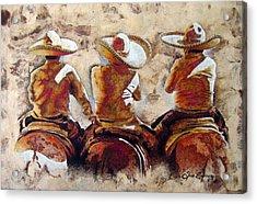 Charros Acrylic Print by Jose Espinoza