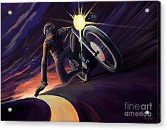 Chasing The Line Speed Racer Acrylic Print by Sassan Filsoof