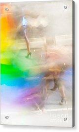 Chasing The Rainbow Acrylic Print by Az Jackson