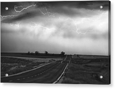 Chasing The Storm - County Rd 95 And Highway 52 - Colorado Acrylic Print by James BO  Insogna