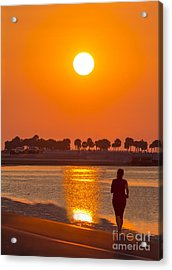 Chasing The Sunset Acrylic Print by Marvin Spates