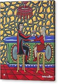 Cheers Up My Bloody Valentine Acrylic Print by Deidre Firestone