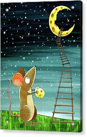 Cheese Moon  Acrylic Print by Andrew Hitchen