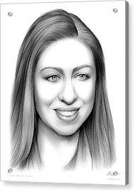 Chelsea Clinton Acrylic Print by Greg Joens