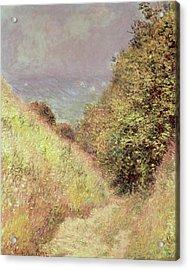 Chemin De La Cavee Pourville Acrylic Print by Claude Monet