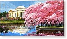 Cherry Blossom Festival Acrylic Print by Sarah Grangier