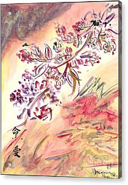 Cherry Blossoms Acrylic Print by Monica Mitchell