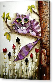 Cheshire Cat Acrylic Print by Lucia Stewart