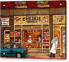 Cheskies Hamishe Bakery Acrylic Print by Carole Spandau