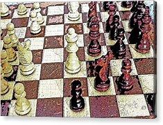 Chess Board - Game In Progress 1 Acrylic Print by Steve Ohlsen