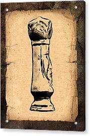 Chess King Acrylic Print by Tom Mc Nemar