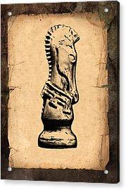Chess Knight Acrylic Print by Tom Mc Nemar