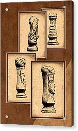 Chess Pieces Acrylic Print by Tom Mc Nemar