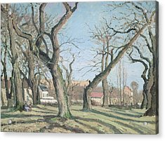 Chestnut Trees At Louveciennes Acrylic Print by Camille Pissarro