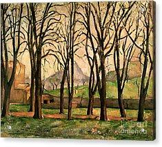 Chestnut Trees At The Jas De Bouffan Acrylic Print by Paul Cezanne