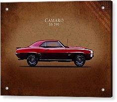 Chevrolet Camaro Ss 396 Acrylic Print by Mark Rogan