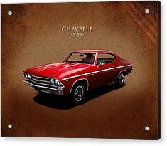 Chevrolet Chevelle Ss 396 Acrylic Print by Mark Rogan