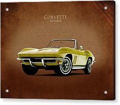 Chevrolet Corvette 1965 Acrylic Print by Mark Rogan