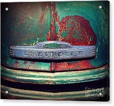 Chevy Rust Acrylic Print by Perry Webster