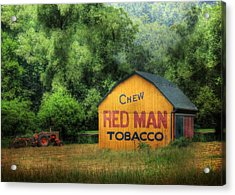 Chew Red Man Acrylic Print by Lori Deiter