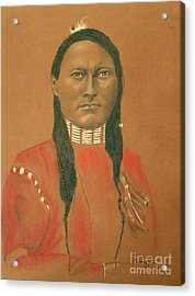 Cheyenne Scout Red Sleeve, 1879 -- Historical Portrait Of Native American Man Acrylic Print by Jayne Somogy