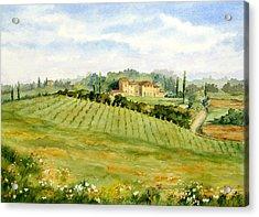 Chianti Villa Acrylic Print by Vikki Bouffard
