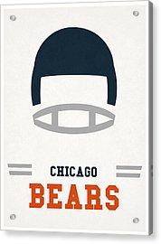 Chicago Bears Vintage Art Acrylic Print by Joe Hamilton