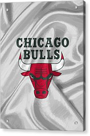 Chicago Bulls Acrylic Print by Afterdarkness
