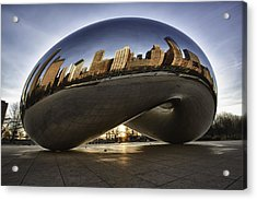 Chicago Cloud Gate At Sunrise Acrylic Print by Sebastian Musial