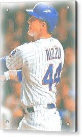 Chicago Cubs Anthony Rizzo 2 Acrylic Print by Joe Hamilton