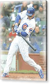 Chicago Cubs Anthony Rizzo Acrylic Print by Joe Hamilton