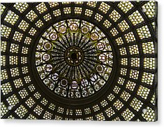 Chicago Cultural Center Tiffany Dome 03 Acrylic Print by Thomas Woolworth