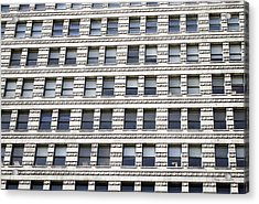 Chicago Downtown Window Facade Acrylic Print by Thomas Woolworth