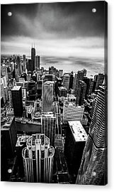 Chicago From Above Acrylic Print by Andrew Soundarajan