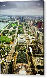 Chicago From Atop Acrylic Print by Andrew Soundarajan